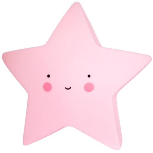 lamparita estrella rosa