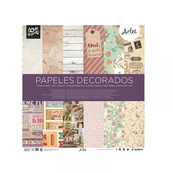 PAPEL DECORADO SCRAPBOOK