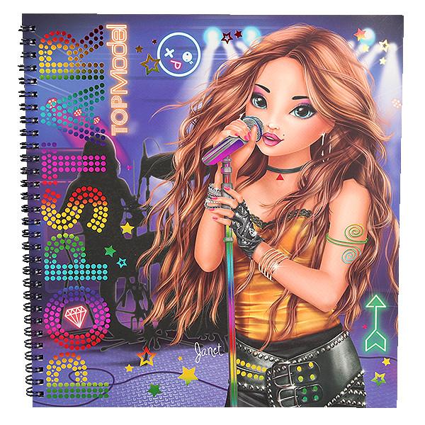 Libro para colorear estrella del pop