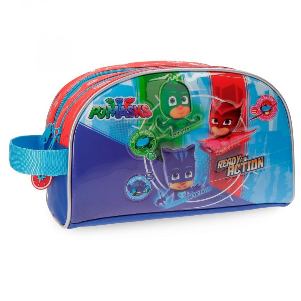 NECESER PJ MASK READY FOR ACTION DOBLE COMPARTIMENTO ADAPTABLE A TROLLEY