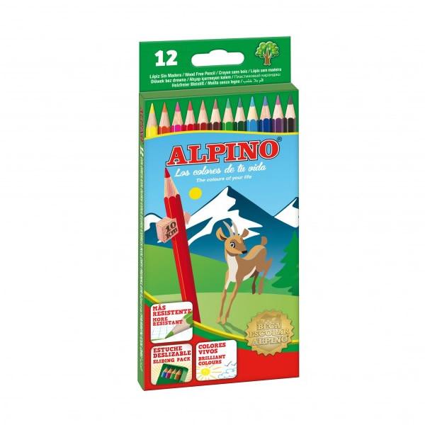 LAPICES ALPINO SIN MADERA 12 COLORES
